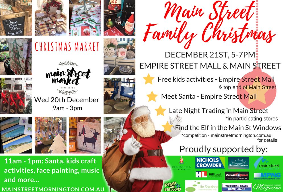 Main Street Family Christmas and Wednesday Market Dec 20th & 21st