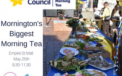 Cancer Council, Mornington's Biggest Morning Tea May 25th 2018