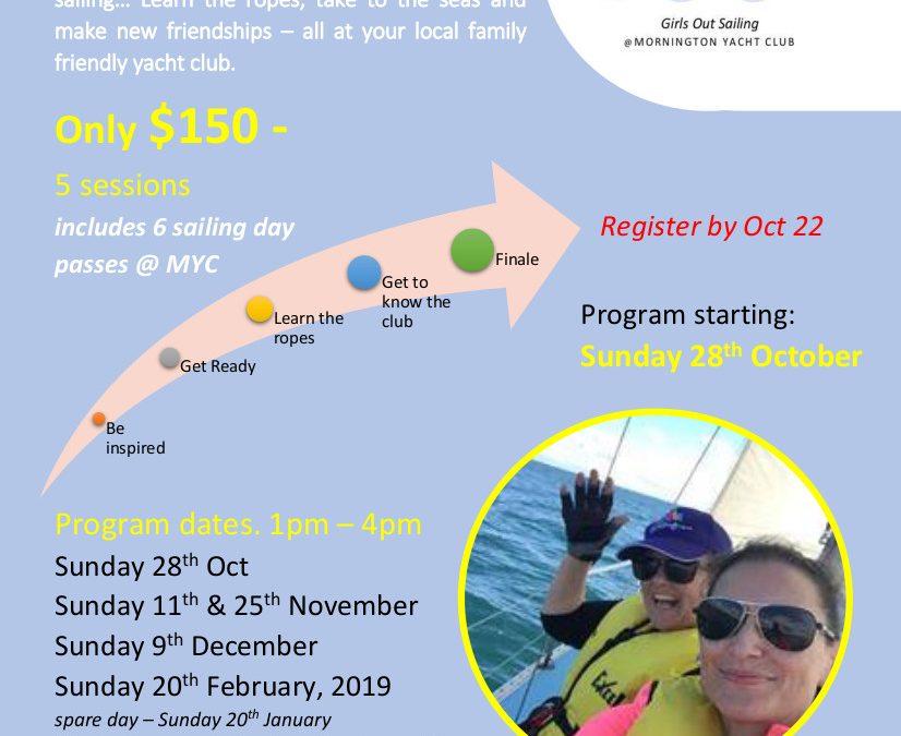 Mornington Yacht Club Girls out Sailing Program