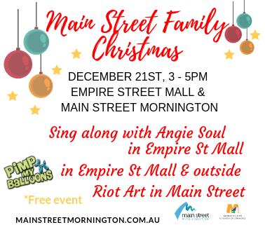 Main Street Family Christmas December 21st 3-5pm