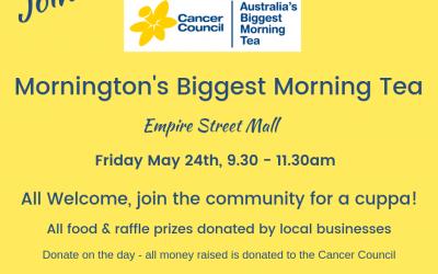 Mornington's Biggest Morning Tea May 24th 2019